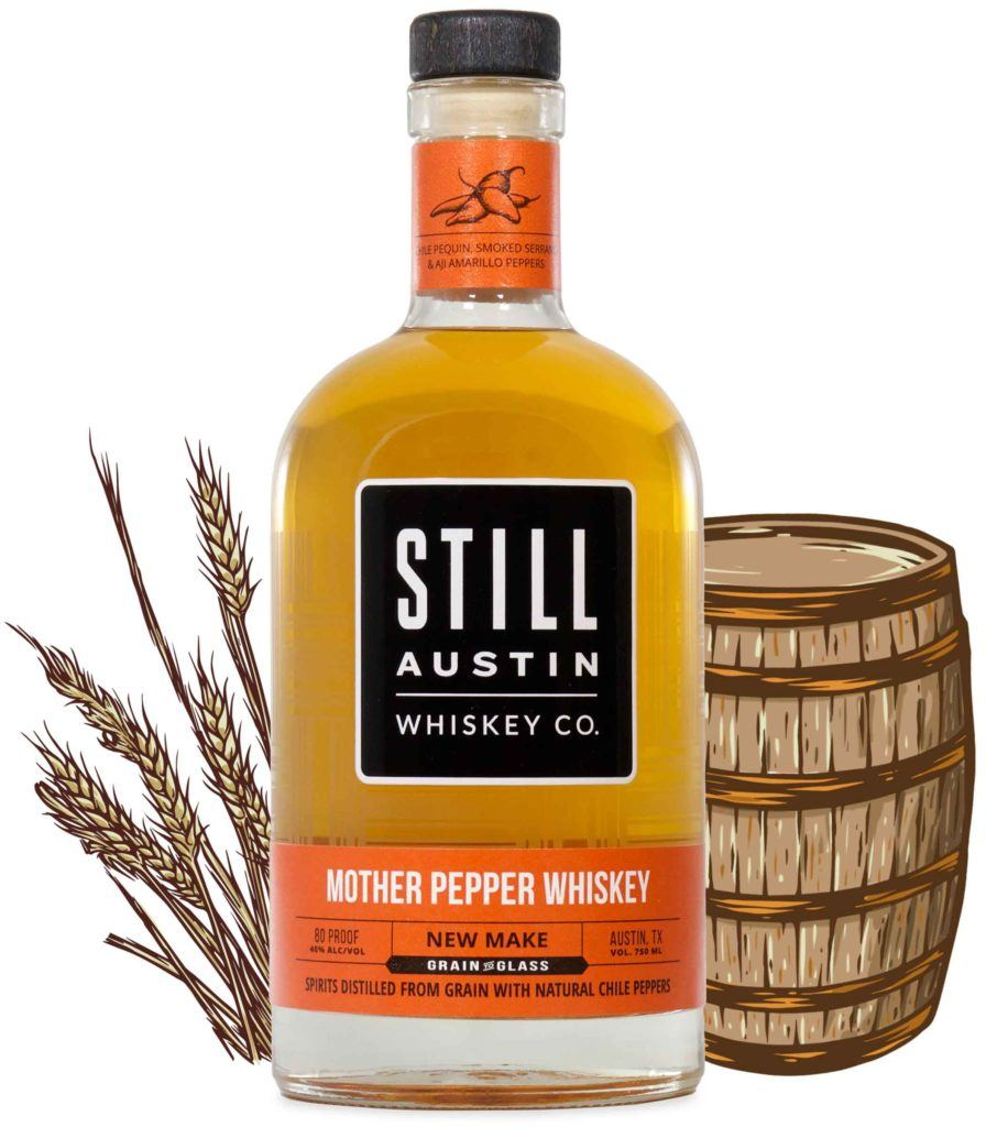 mother pepper whiskey produced by still austin whiskey co in austin texas
