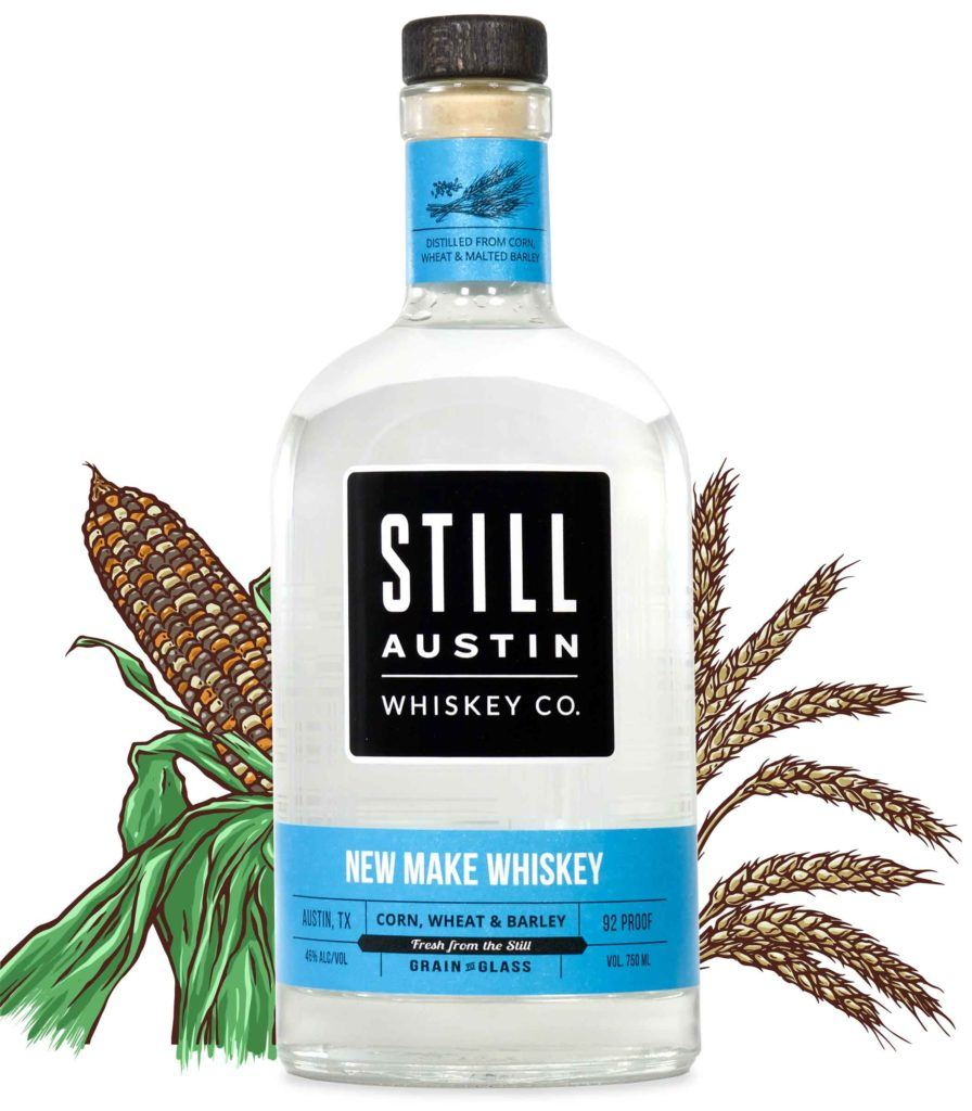 new make whiskey produced by still austin whiskey co in austin texas