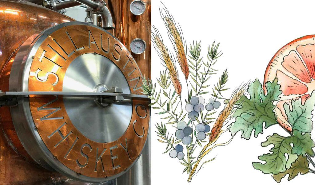 ingredients and distillation process used to make still austin gin