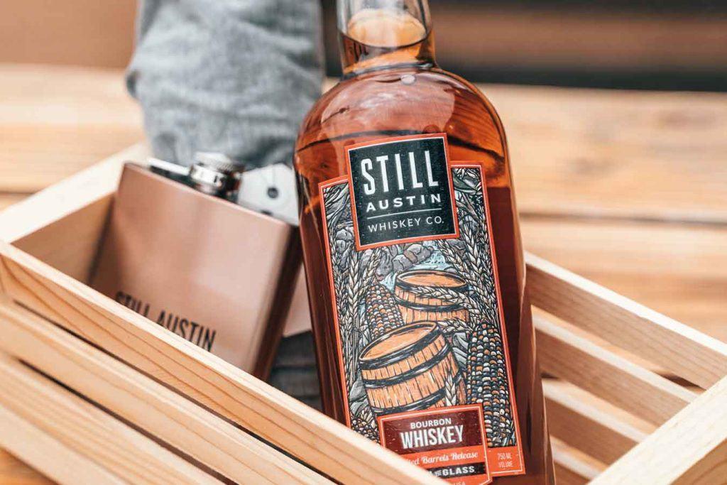 bottle of still austin whiskey made in austin texas