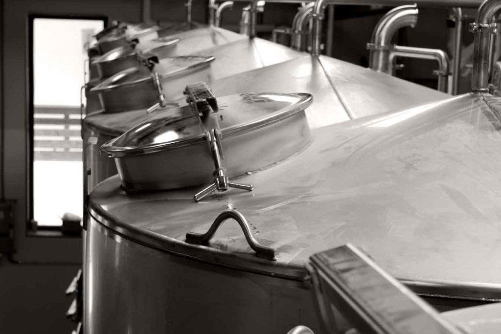 distillation tanks at still austin whiskey co distillery in austin texas