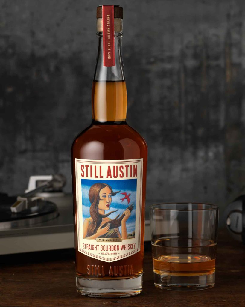 Still Austin's new straight bourbon whiskey with label art by Josh Row
