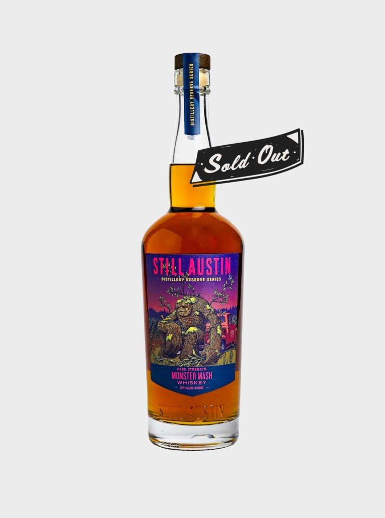 sold out limited batch release monster mash whiskey from still austin whiskey co.