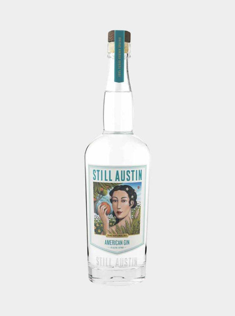 still austin american gin distilled in austin texas